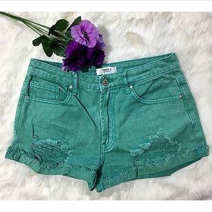 🆕 [Forever 21] Teal Denim Shorts